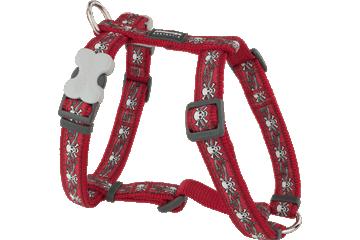 Red Dingo 犬用ハーネス スカル & バラ 赤 DH-SR-RE