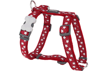 Red Dingo Dog Harness Stars Rosso DH-ST-RE