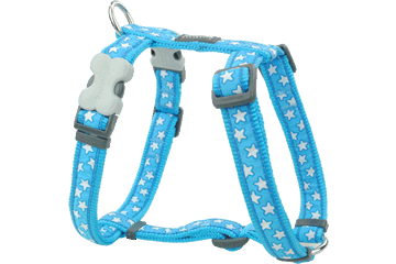 Red Dingo Dog Harness Stars Turquoise DH-ST-TQ