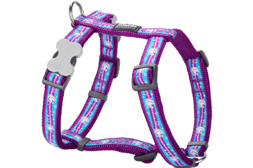 Red Dingo Dog Harness Unicorn Viola DH-UC-PU