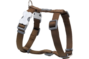 Red Dingo Dog Harness Clic Brown DH-ZZ-BR