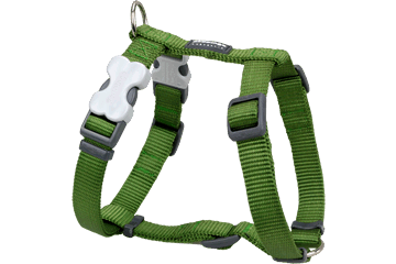 Red Dingo Dog Harness Classic Green DH-ZZ-GR