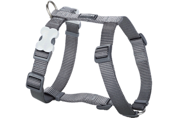 Red Dingo Dog Harness Classic Cool Grey DH-ZZ-GY