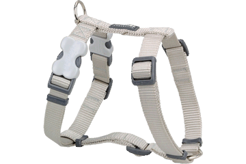Red Dingo Dog Harness Classic Silver DH-ZZ-SI
