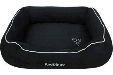 Red Dingo Donut Bed Black DN-MF-BB