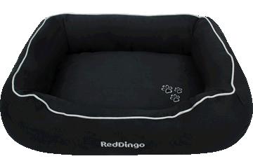 Red Dingo ドーナツ ベッド 黒色 DN-MF-BB