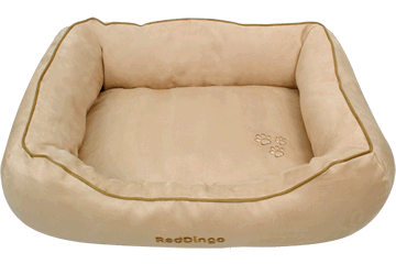 Red Dingo Donut Bed Beige DN-MF-BE