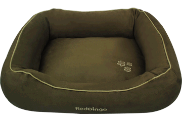 Red Dingo Donut Bed &nbsp: Deep Olive DN-MF-GR