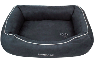 Red Dingo Donut Bed Grey DN-MF-GY