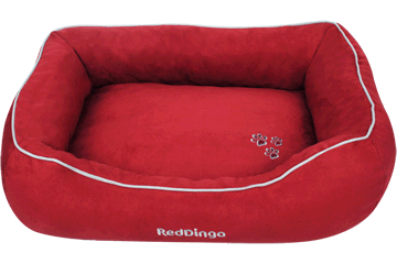Red Dingo Corbeille rembourrée Acier inoxydable Rouge DN-MF-RE