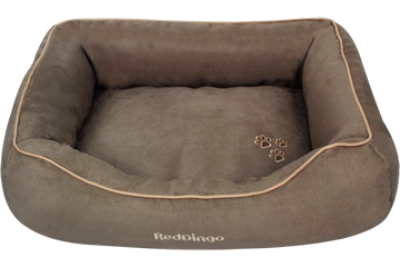 Red Dingo Donut Bed Taupe DN-MF-TA
