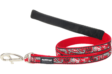 Red Dingo Fixed Length Lead Bandana Red L4-BA-RE
