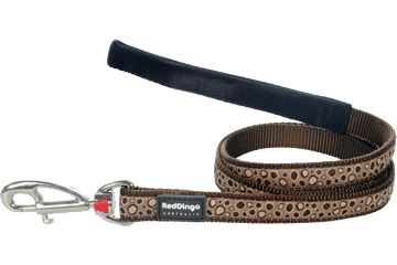 Red Dingo Fixed Length Lead Bedrock Brown L4-BE-BR