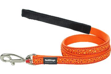 Red Dingo Fixed Length Lead Bedrock Orange L4-BE-OR