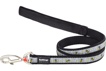 Red Dingo Fixed Length Lead Bumble Bee Black L4-BM-BB