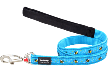 Red Dingo Fixed Length Lead Bumble Bee Turquoise L4-BM-TQ