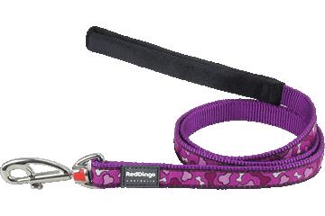 Red Dingo Fixed Length Lead Bonarama Purple L4-BR-PU
