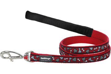 Red Dingo Fixed Length Lead Bonarama Red L4-BR-RE