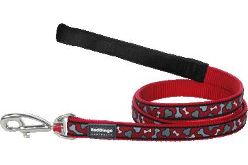 Red Dingo Fixed Length Lead Bonarama Red L4-BR-RE