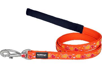 Red Dingo Fixed Length Lead Breezy Love Orange L4-BZ-OR