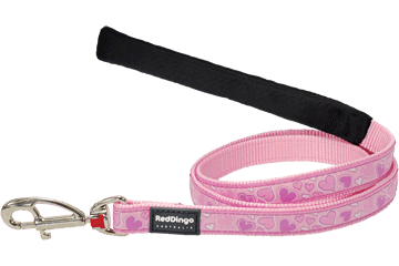 Red Dingo Fixed Length Lead Breezy Love Pink L4-BZ-PK