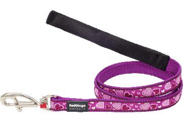 Red Dingo Fixed Length Lead Breezy Love Purple L4-BZ-PU