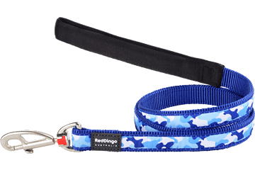 Red Dingo Fixed Length Lead Camouflage Dark Blue L4-CF-DB