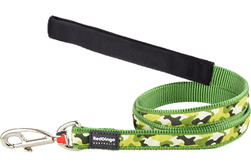 Red Dingo Fixed Length Lead Camouflage Green L4-CF-GR