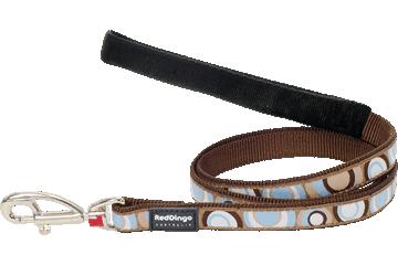 Red Dingo Fixed Length Lead Circadelic Brown L4-CI-BR
