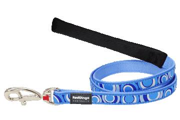 Red Dingo Fixed Length Lead Circadelic Medium Blue L4-CI-MB