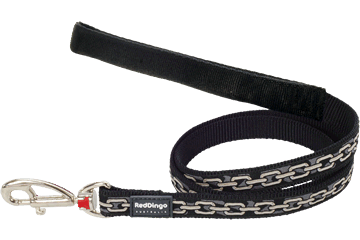 Red Dingo Fixed Length Lead Chain Black L4-CN-BB