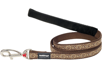 Red Dingo Fixed Length Lead Cosmos Brown L4-CO-BR