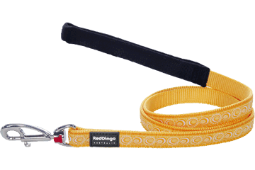 Red Dingo Fixed Length Lead Cosmos Yellow L4-CO-YE