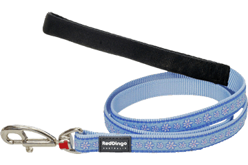 Red Dingo Fixed Length Lead Daisy Chain Light Blue L4-DC-LB