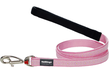 Red Dingo Fixed Length Lead Daisy Chain Pink L4-DC-PK