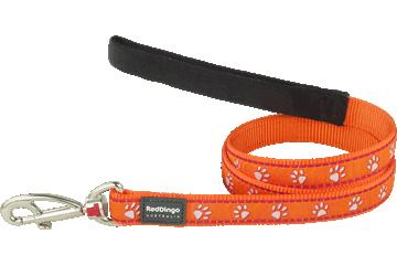 Red Dingo Fixed Length Lead Desert Paws Orange L4-DP-OR