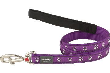 Red Dingo Fixed Length Lead Desert Paws Purple L4-DP-PU