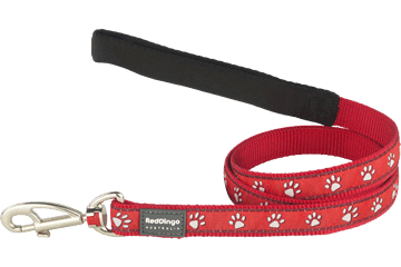 Red Dingo Fixed Length Lead Desert Paws Red L4-DP-RE