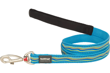 Red Dingo Fixed Length Lead Dreamstream Turquoise L4-DS-TQ