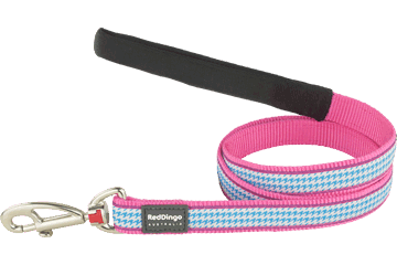 Red Dingo Fixed Length Lead Fang It Hot Pink L4-FG-HP