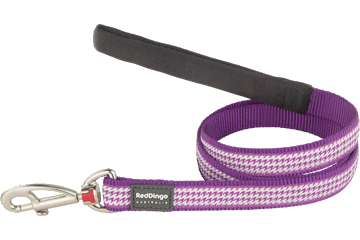 Red Dingo Fixed Length Lead Fang It Purple L4-FG-PU