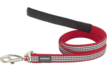 Red Dingo Fixed Length Lead Fang It Red L4-FG-RE