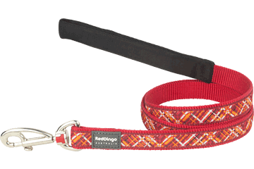 Red Dingo Fixed Length Lead Flanno Red L4-FN-RE