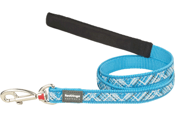 Red Dingo Fixed Length Lead Flanno Turquoise L4-FN-TQ