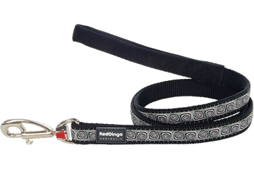 Red Dingo Fixed Length Lead Hypno Black L4-HY-BB