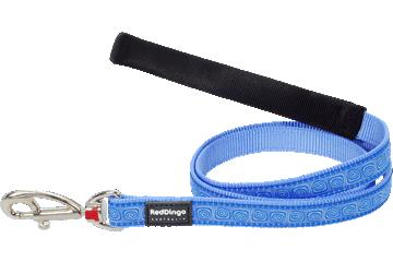 Red Dingo Fixed Length Lead Hypno Medium Blue L4-HY-MB