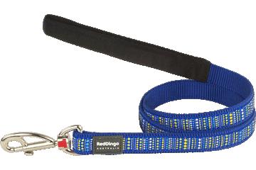 Red Dingo Fixed Length Lead Lotzadotz Dark Blue L4-LD-DB