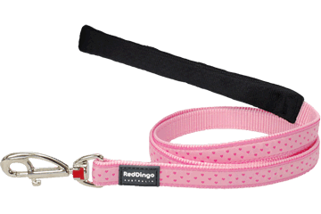 Red Dingo Fixed Length Lead Love Sprinkles Pink L4-LS-PK