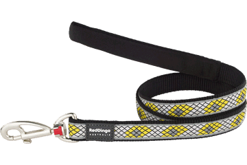 Red Dingo Fixed Length Lead Monty Black L4-MY-BB