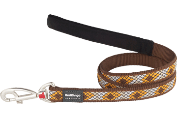 Red Dingo Fixed Length Lead Monty Brown L4-MY-BR